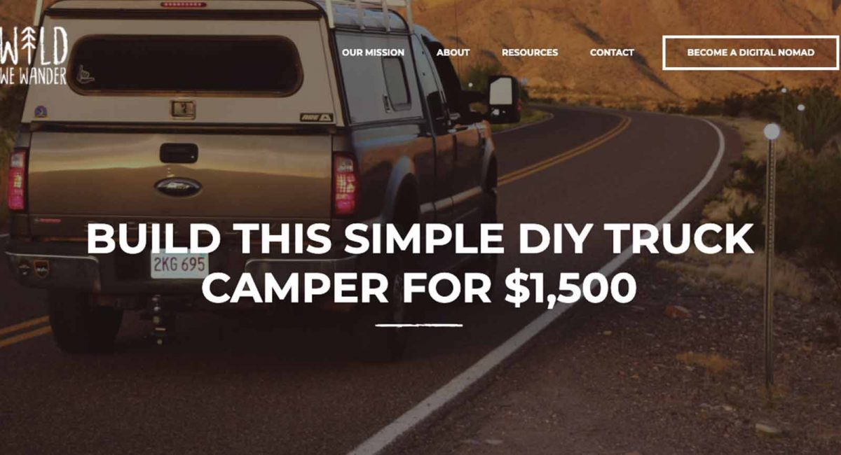 Wild We Wander is uses content marketing to promote their digital nomad brand